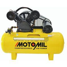 Compressor de Ar 5 HP 2 Polos Trifásico CMV-20PL / 200 140 Libras - Motomil