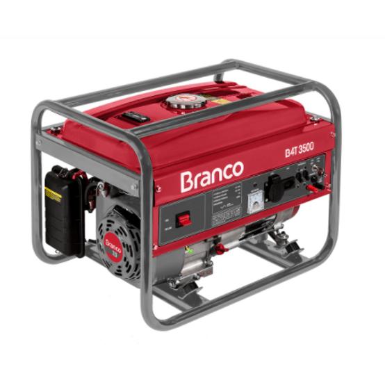 Gerador de Energia á Gasolina Monofásico B4T 3500 3,5KVA Branco